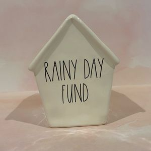 "🆕 Rae Dunn ""Rainy Day Fund"" Ceramic Holder"
